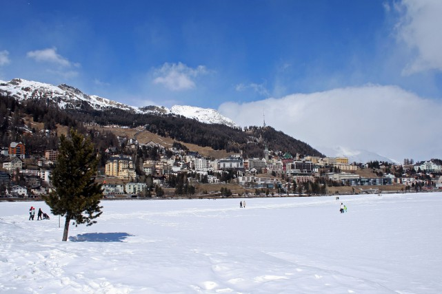 Une vue de la station de Saint-Moritz, en... (Photo RelaxNews)