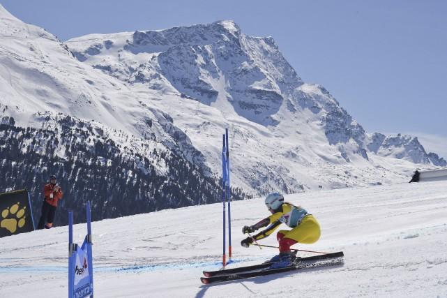 Marie-Michèle Gagnon a terminé en cinquième positionau slalom... (AP, Shinichiro Tanaka)