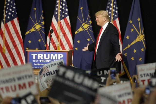 Mercredi, Donald Trump s'est encore livré à une... (PHOTO AP)