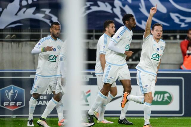 Marseille s'est qualifié pour la finale de la Coupe de France en allant battre... (PHOTO AFP)