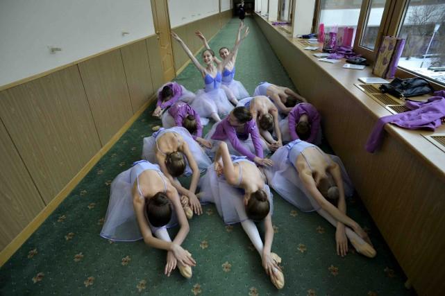 L'académie du ballet du Bolchoï, fondée en 1773... (AFP, Yuri Kabodnov)