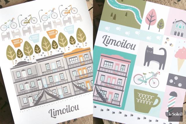 Émilie Hébert a grandi dans le quartier Limoilou, qu'elle adore. (Infographie Le Soleil, photos Émilie Hébert)