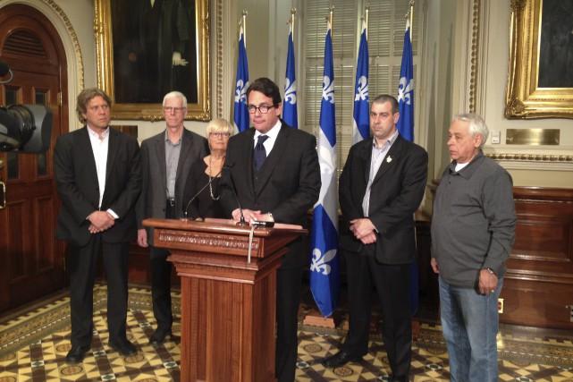 Le chef du Parti québécois, Pierre Karl Péladeau,... (fournie par le cabinet de Lorraine Richard)