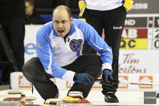 Jean-Michel Ménard prendra part au 17e Challenge de curling... (Archives Le Droit)