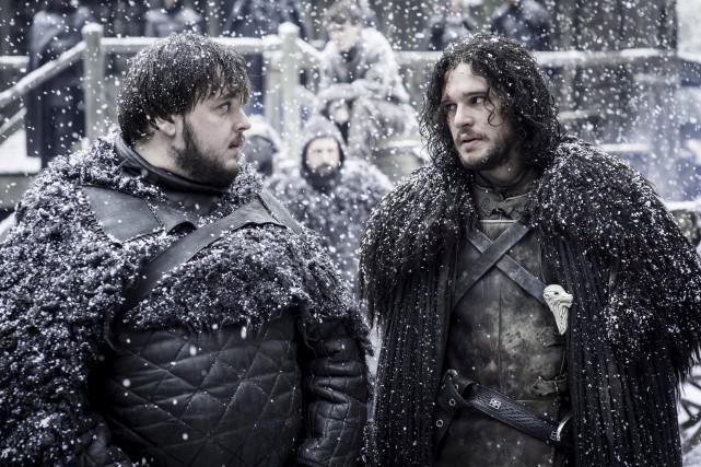 Samwell Tarly et Jon Snow... (fournie par HBO)