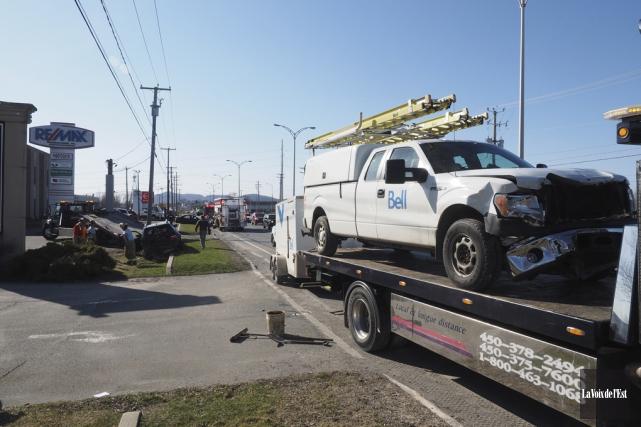 La collision a eu lieu vers 16h10, alors... (Alain Dion, La Voix de l'Est)