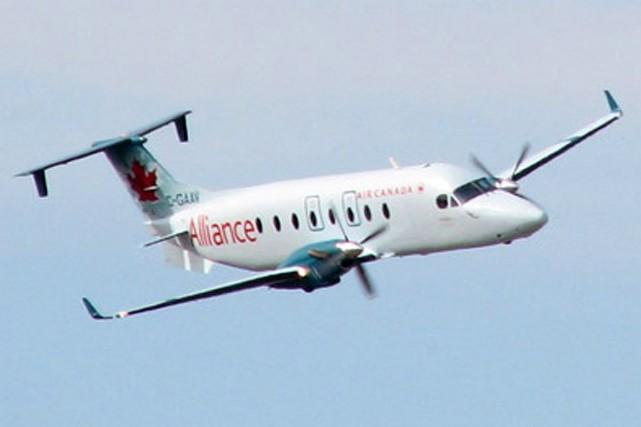 UnBeechcraft 1900 d'Air Canada.... (Photo tirée du site internet d'Air Canada)