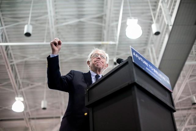 Le candidat démocrate Bernie Sandersa promis de continuer... (photoSam Hodgson, The New York Times)