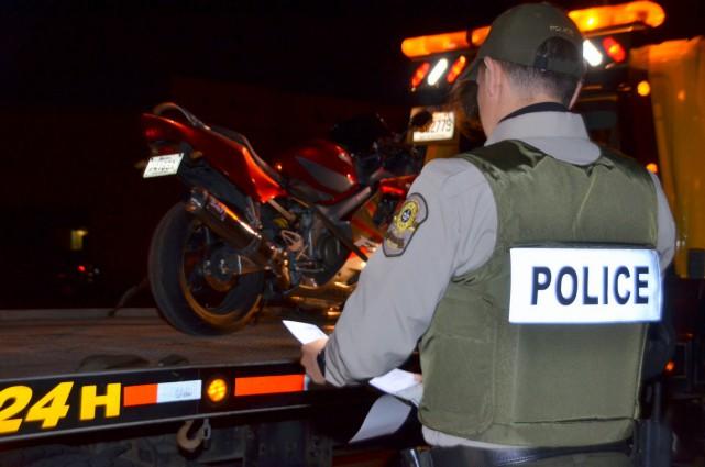 Un motocycliste a été intercepté à 116 km/h... (Photo collaboration spéciale Éric Beaupré)