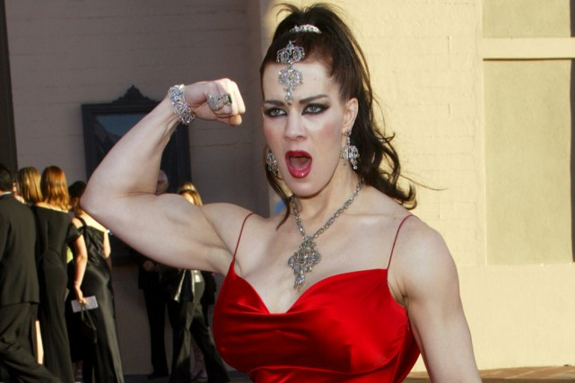 La lutteuse professionnelle Chyna, en novembre 2003... (Archives Associated Press)