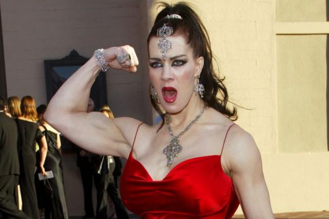 La lutteuse professionnelle Chyna, en novembre 2003... (Archives AP)