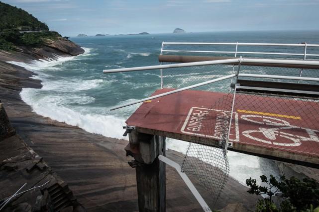 Située en bord de mer, la piste de... (PHOTO CHRISTOPHE SIMON, AGENCE FRANCE-PRESSE)