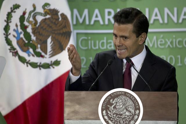 Enrique Peña Nietoa longtemps été opposé à la... (AP, Eduardo Verdugo)