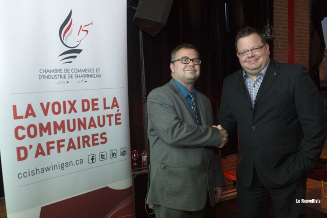 Ccis mario lamontagne prend la rel ve guy veillette for Chambre de commerce shawinigan