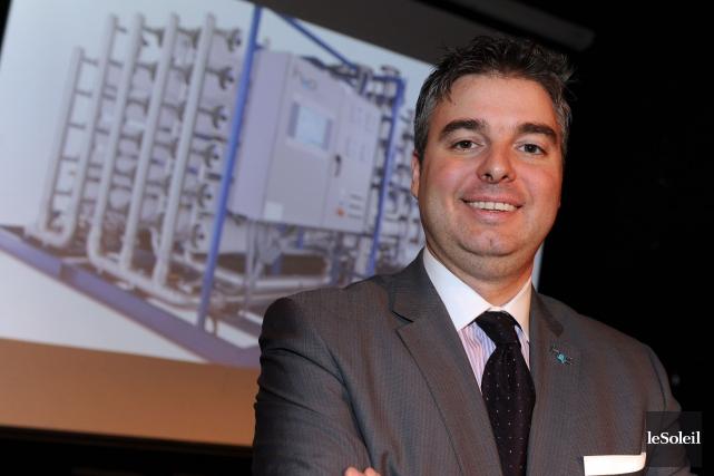 Frédéric Dugré, pdg d'H20 Innovation... (Le Soleil, Erick Labbé)