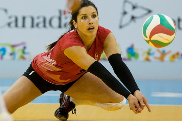 Janie Guimond, la meilleure volleyeuse de la région,... (Volleyball Canada)
