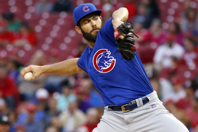Jake Arrieta, jeudi soir... (Photo David Kohl, USA TODAY Sports)