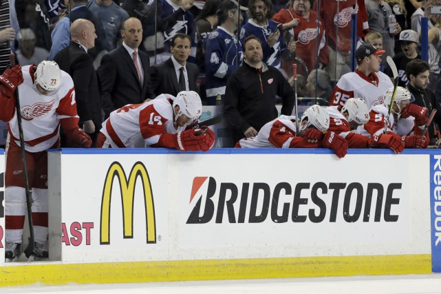 La saison des Red Wings de Detroit est... (Associated Press)