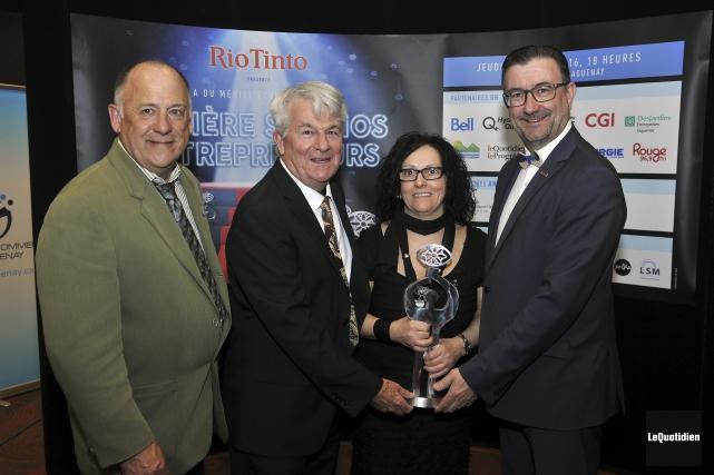 Carrefour environnement Saguenay a reçu les prix Dubuc... (Photo Le Quotidien, Rocket Lavoie)
