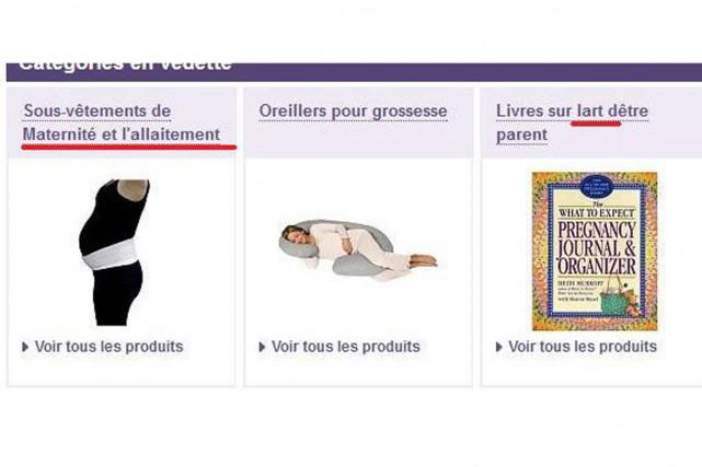 La traduction française du site internet de Babies R Us n'est pas encore au...