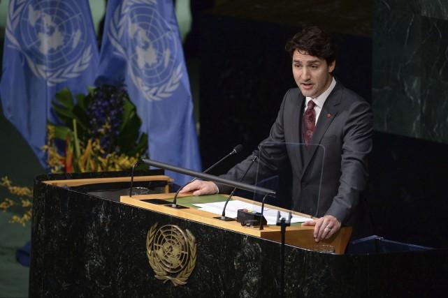 Justin Trudeau s'adresse aux Nations Unies avant de... (Agence France-Presse)
