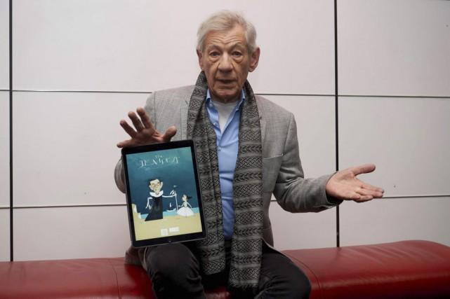 Ian McKellen lors du lancement de l'application, vendredi... (PHOTO NIKLAS HALLE'N, AFP)