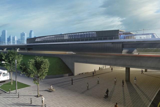 Maquette du futur train électrique qui desservira Montréal... (Courtoisie)