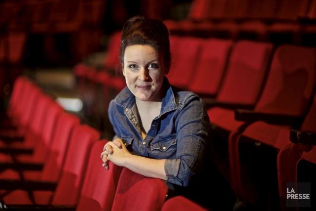 AvantLa Voix, Geneviève Leclerc concevait les personnages qu'elle... (André Pichette, La Presse)