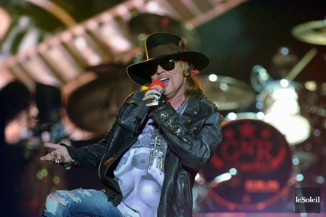 Ne jamais dire jamais. Avec Guns N'Roses, l'expression prend tout son sens. (Photothèque Le Soleil, Erick Labbé)