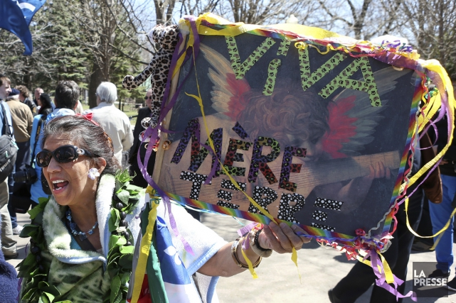 La manifestation s'est tenue au Parc Lafontaine, samedi... (PHOTO ROBERT SKINNER, LA PRESSE)