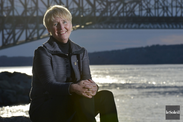 Femme d'énergie, Brigitte Duchesneau s'implique bénévolement auprès d'une... (Le Soleil, Yan Doublet)