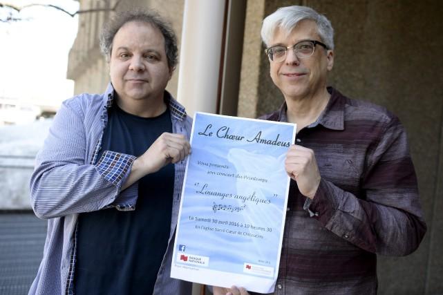 Directeurs du Choeur Amadeus et de l'Ensemble Talisman,... (Progrès-dimanche, Jeannot Lévesque)