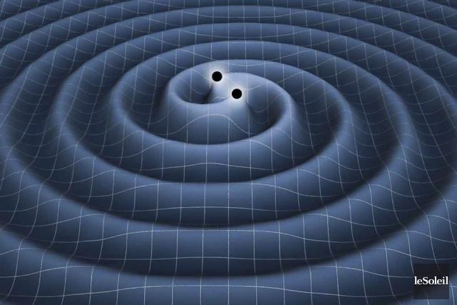 Les ondes gravitationnelles sont, un peu comme un... (Image archives Le Soleil)
