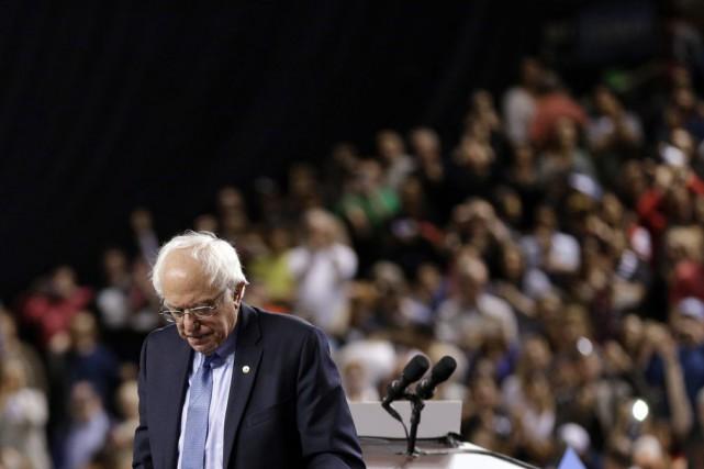 Le sénateur du Vermont a placé la lutte... (Photo AP)