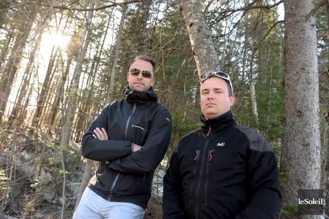 Steve Chabot et Rémi Pelletier considéraient leur projet... (Le Soleil, Erick Labbé)
