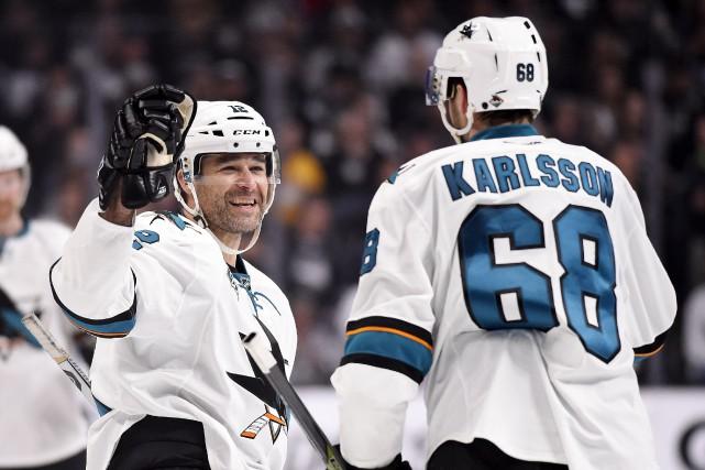 Les Sharks ont accédé à la deuxième ronde... (Associated Press)