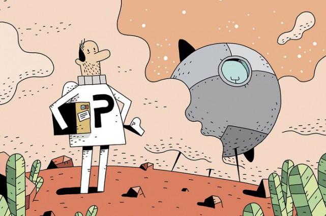 Dans un futur improbable où l'on distribue le courrier de planète à planète, et...