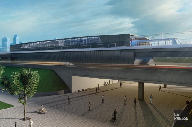 Aperçu du mégaprojet de train électrique automatisé à... (IMAGE FOURNIE PAR LA CAISSE DE DÉPÔT ET PLACEMENT)