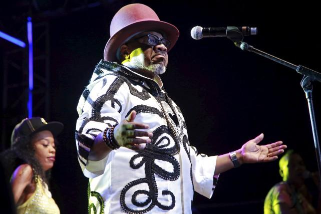 Papa Wemba quelques instants avant de s'effondrer sur... (AFP)