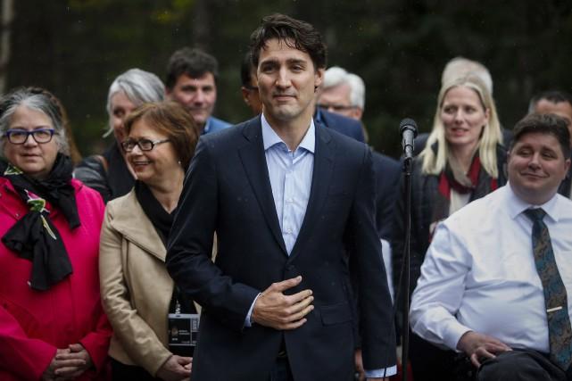 Justin Trudeau et 30 ministres séjourneront dans une... (La Presse Canadienne)