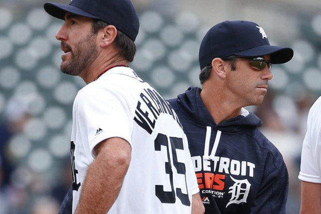Le gérant des Tigers Brad Ausmus et le... (Photo Paul Sancya, archives Associated Press)