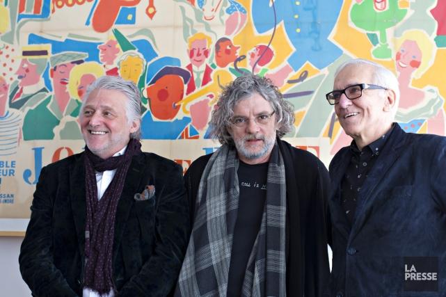 Gilbert Rozon, François Girard et Roger Frappier lors... (PHOTO OLIVIER JEAN, LA PRESSE)