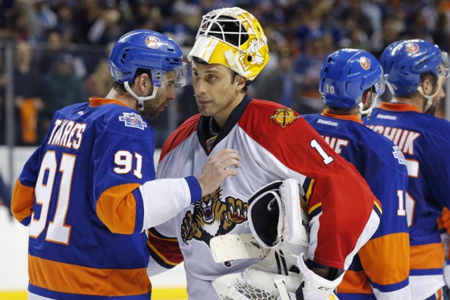 En Roberto Luongo, les Panthers s'appuient sur un... (PHOTO AP)