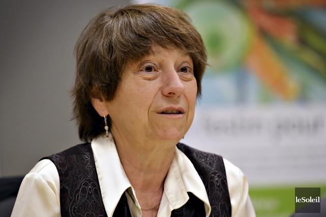 Françoise David était en entrevue éditoriale dans les... (Le Soleil, Patrice Laroche)