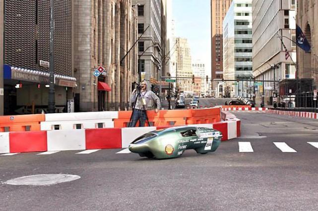 Le véhicule monoplace à propulsion électrique Beyond de... (Photo fournie)