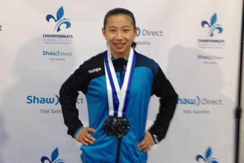 Livia Boivin a remporté deux médailles d'argent (poutre... (Photo courtoisie)