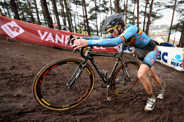 La Belge Femke Van den Driesschelors des Championnats... (Photo archives AFP)