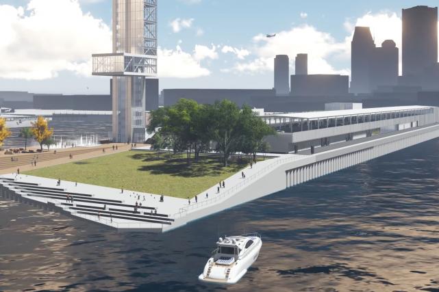 La dernière mouture du projet de réaménagement de... (illustration fournie par le port de Montréal)