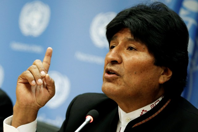 Le président Evo Morales.... (PHOTO MIKE SEGAR, ARCHIVES REUTERS)
