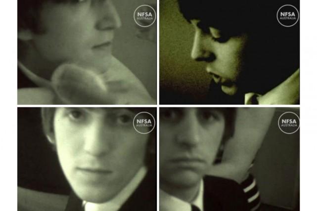 Des images jamais vues des Beatles en train de faire les pitres dans un studio... (PHOTO AFP)